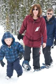 Snowshoeing on Mount Washington