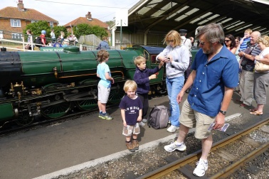 At the steam railway with Granddad