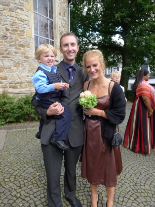 Alexander and I with my cousin Marie-Noelle
