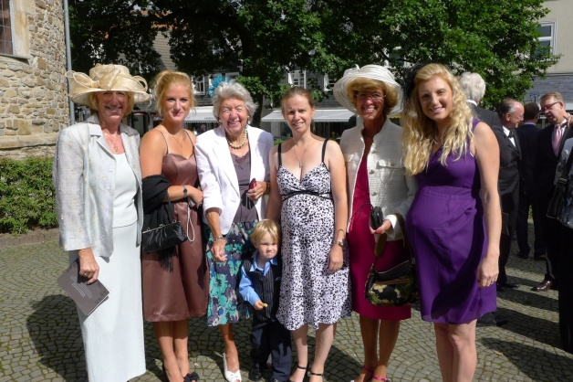The ladies, and Alexander, on my side of the family
